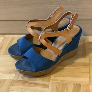 Shoes - Classic twilight blue wedges.